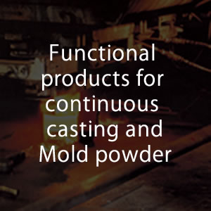 Functional products for continuous casting,Mold powder